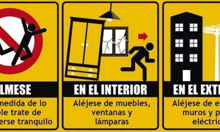 Consejos para actuar en caso de terremoto