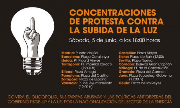 España responde con protestas a la subida del precio de la luz