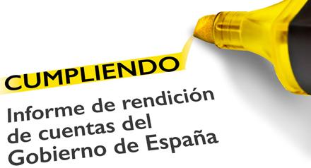 Pedro Sánchez valora positivamente los resultados del informe 'Cumpliendo'