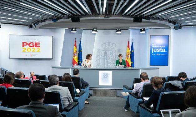 El Ejecutivo presenta el proyecto de los Presupuestos de 2022
